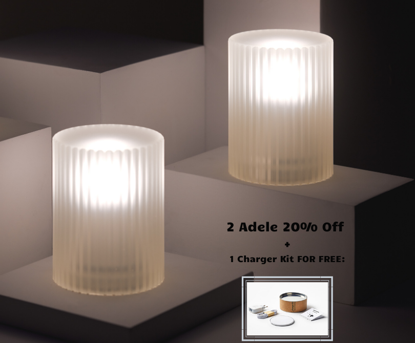 Promotion: 2 Adele Lamps + 1 Charger Kit FOR FREE